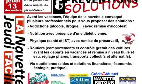 Jeudi 13 décembre : Journée Préventions & Solutions.